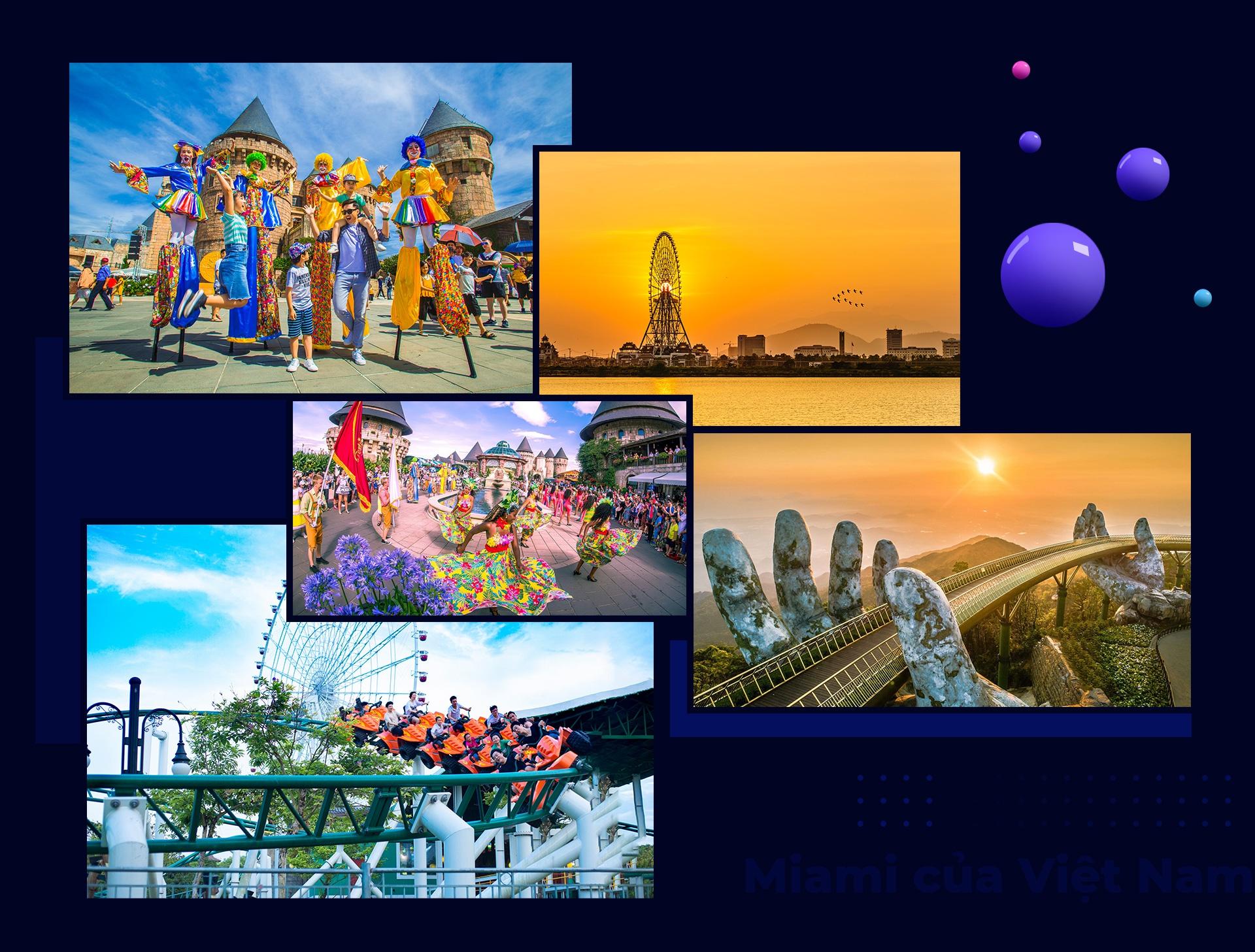 """Có một Đà Nẵng sôi động tại Bà Nà Hills với thế giới lễ hội cuồng say, một Đà Nẵng """"cười thả ga, chơi thả phanh"""" tại Sun World Danang Wonders, khu du lịch Núi Thần Tài."""