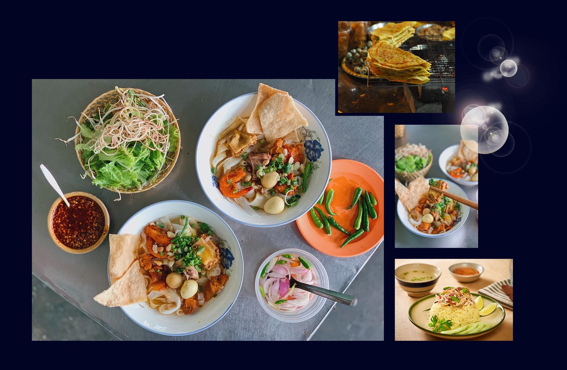 Lại có một Đà Nẵng khác hồn hậu và giản dị qua nền ẩm thực trù phú với bánh tráng thịt heo, bún chả cá, gỏi cá Nam Ô, bún mắm nêm, bánh xèo, ốc hút, bánh canh, mực rim…