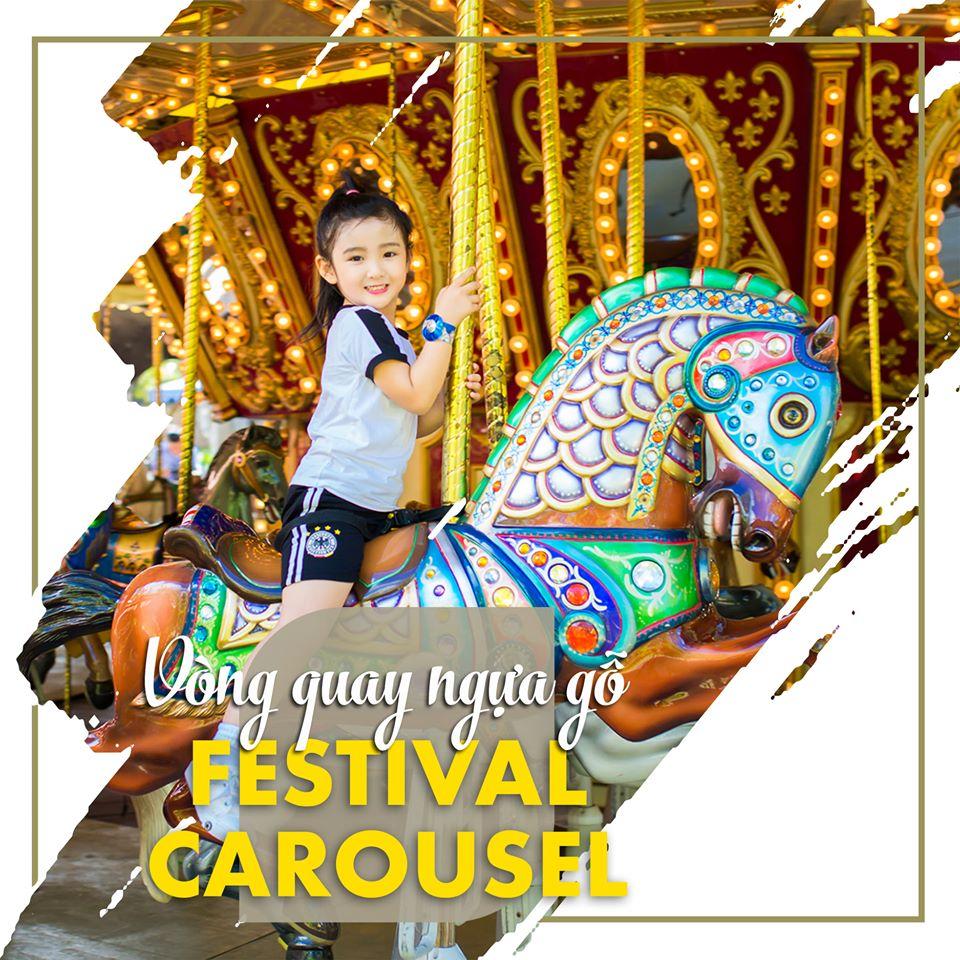 Festival Carousel – Vòng quay ngựa gỗ cầu kỳ